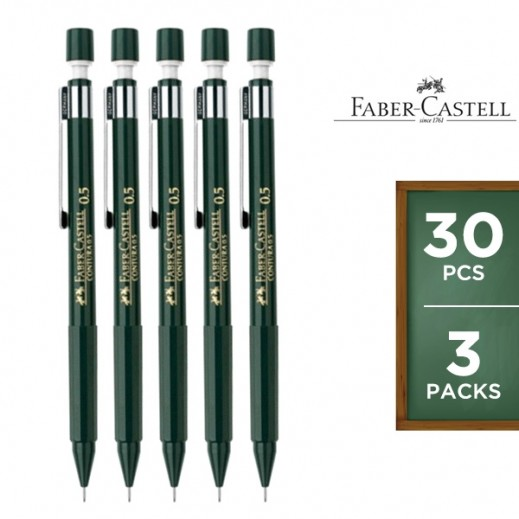 Value Pack - Faber Castell 0.5m Contura Pencil 10 pieces (3 packs)