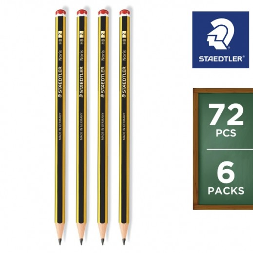 Value Pack - Staedtler Noris HB Pencil 6 x 12 pieces