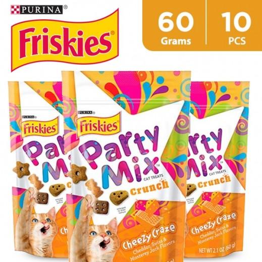 Wholesale - Friskies Party Mix Cheezy Craze (Cats Treats) 60 g (10 Pieces)