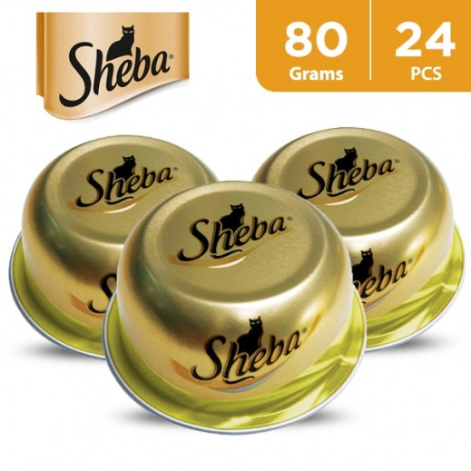 Wholesale - Sheba Dome Fine Cuts With Chicken Wet Cat Food 24x80 g