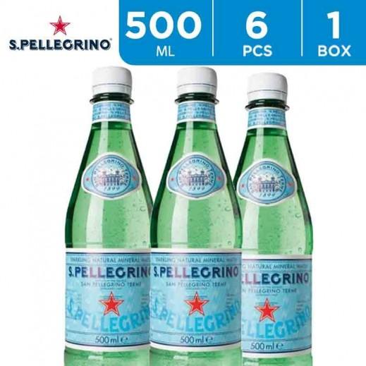San Pellegrino Sparkling Natural Mineral Water Bottle 6 x 500 ml