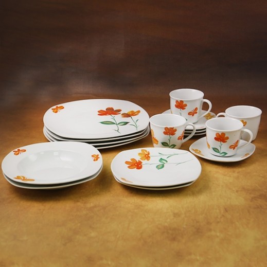 Casa Joven Dinner Set Flower - 20 Pieces