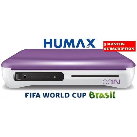 Humax Bein IRHD-1000S Satellite Receiver Plus World Cup Subscription 3 Months