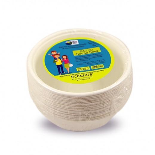 Ecoware Biodegradable Round Bowl 240 ml - 20 Pieces