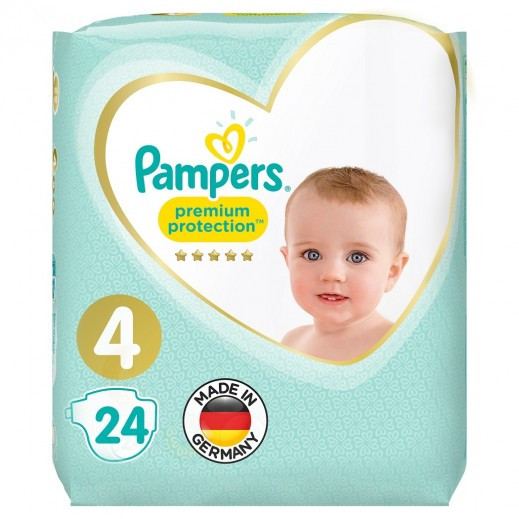 Pampers Premium Care Protection Diapers Size 4 Carry Pack 24 Pieces
