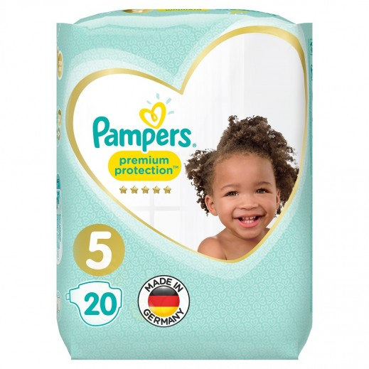 Pampers Premium Care Protection Diapers Size 5 Carry Pack 20 Pieces