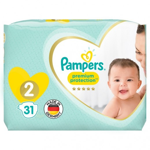 Pampers Premium Care Protection Diapers Size 2 Carry Pack 31 Pieces