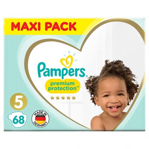 Pampers Premium Care Protection Diapers Size 5 Mega Pack 68 Pieces