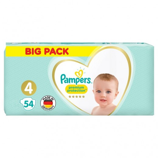 Pampers Premium Care Protection Diapers Size 4 Jumbo Pack 54 Pieces