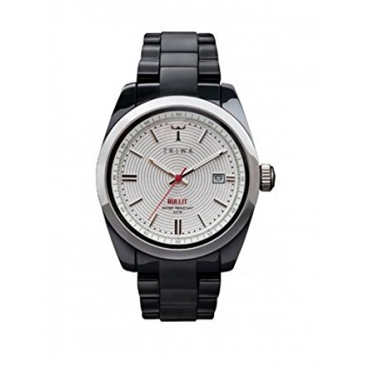 Triwa Sputnik Bullit Analog Unisex Watch Silver And Black BUPU105