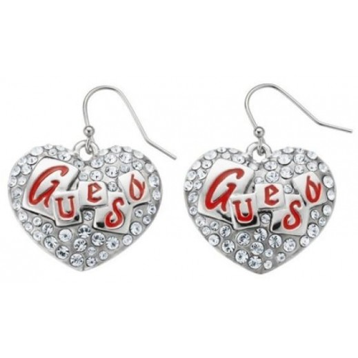 Guess Heart Drop Earrings - delivered by Beidoun