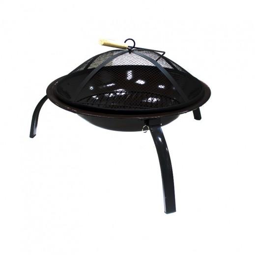 Metallic Round Fire Pit 56 x 39 cm