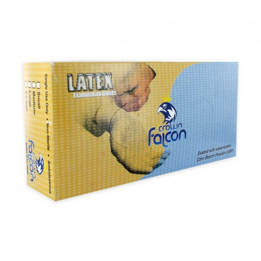 Falcon Latex Gloves Small 100 pieces