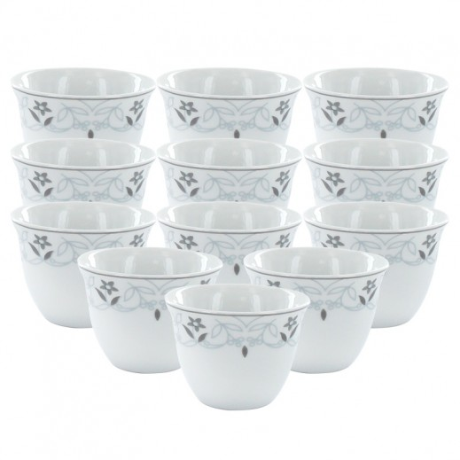 Porceline Arabic Coffee Cup 12 Pieces Set (Lily)