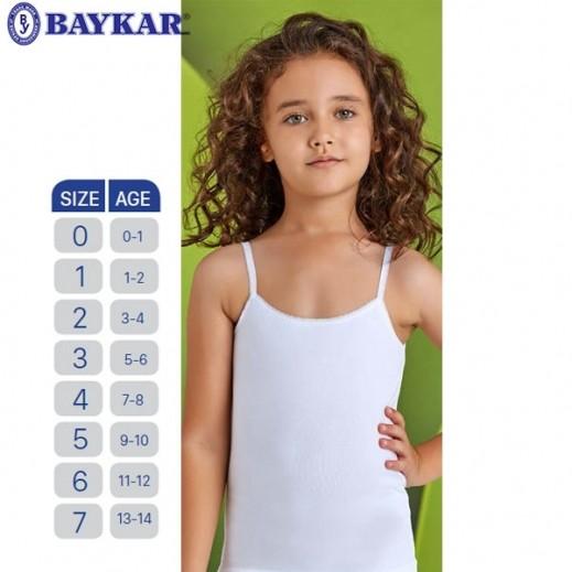 Baykar White Girls Camisole - Set of 6 (3-4 / 13-14)