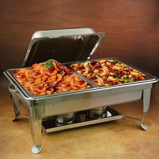 Sharp Stainless Steel Rectangular Chafing Dish Food Warmer 9 L