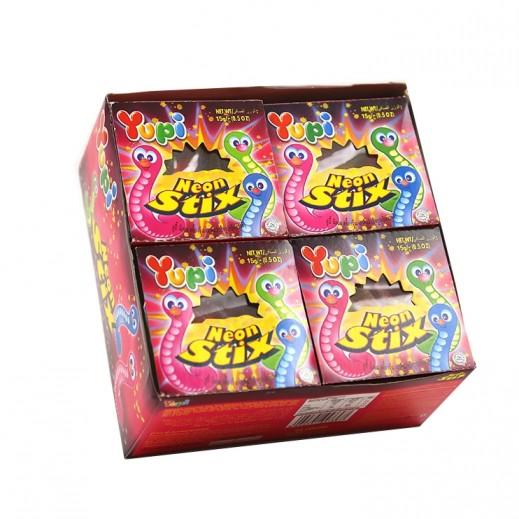 Yupi Neon Stix Jelly 24x15 g