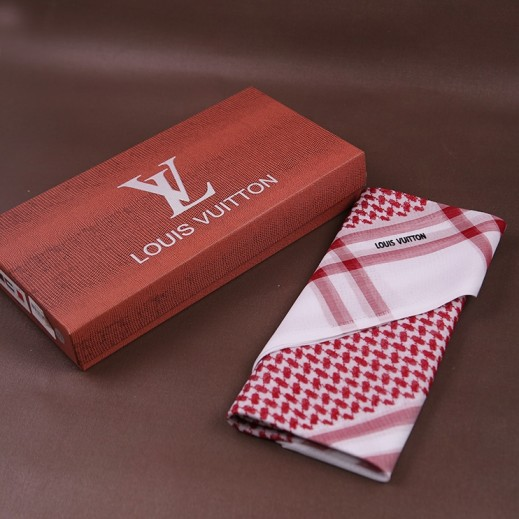 Louis Vuitton Shmagh Red Color 52 - 58 Inch