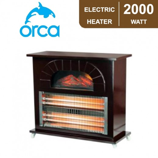 Orca Quartz Heater 2,000W - Brown