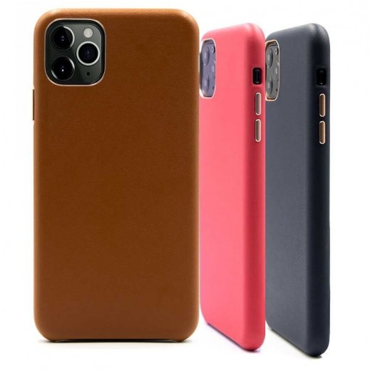 Porodo Leather Back Case iPhone 11 Pro Max