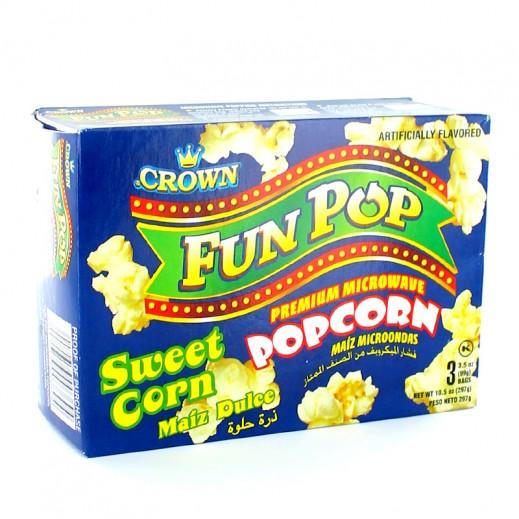Crown Microwave Popcorn Sweet Flavor 297 g