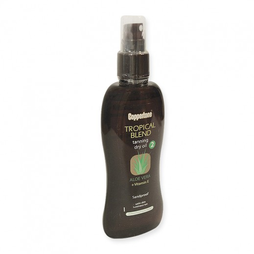 Coppertone SPF2 Tropical Tan Dry Oil Spray Aloe Vera 200 ml
