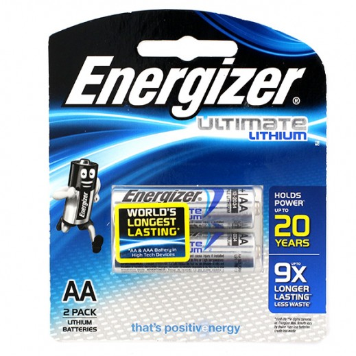 Energizer Ultimate Lithium AA Battery 2 Pack