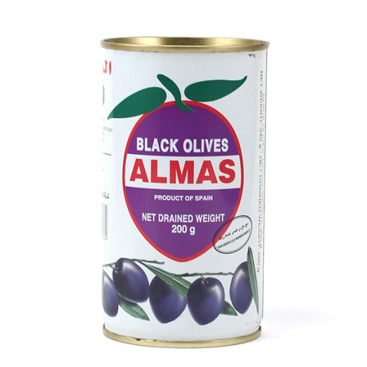 Almas Black Olives 200 g