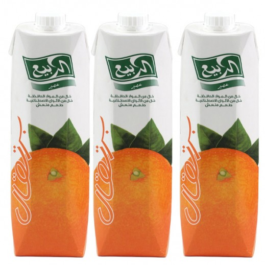 Al Rabie Orange Nectar Juice 1 L (3 Pieces)