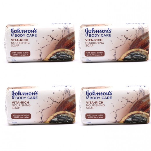 Johnsons Body Care Nourishing Cocoa Butter Soap 4x125 g