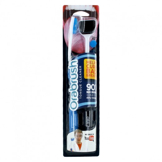 Orabrush Tongue Cleaner Twin Pack -Black & Blue