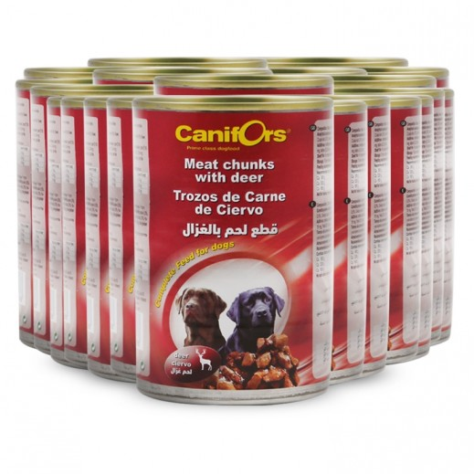 Wholesale - Canifors Dog Food Meat With Deer 24x410 g