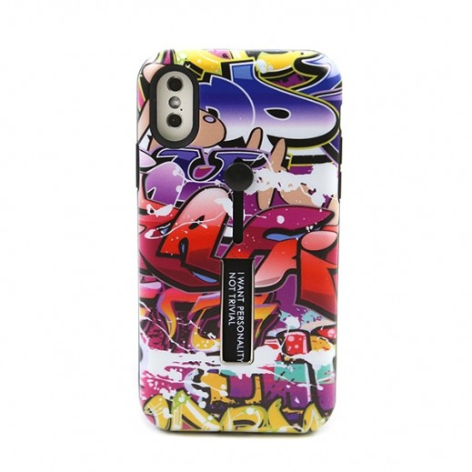 Boter Unique Case & Holder for iPhone X – Multi color Graffiti