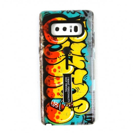 Boter Case & Holder for Samsung Note 8 – Yellow Graffiti