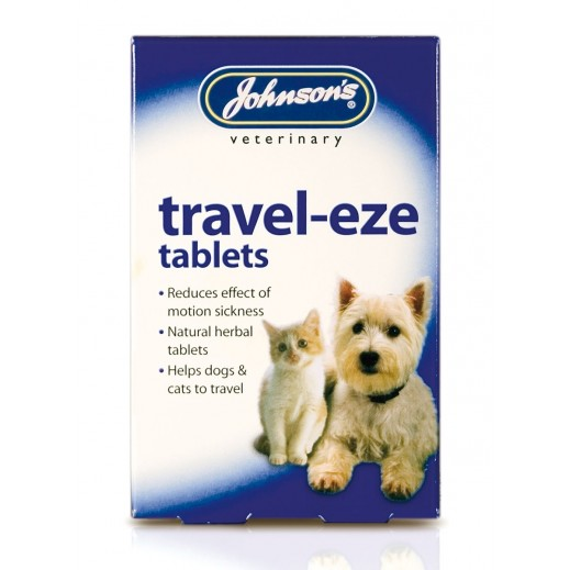 Johnsons Travel Eze Tablets For Dogs And Cats 24 Tablets