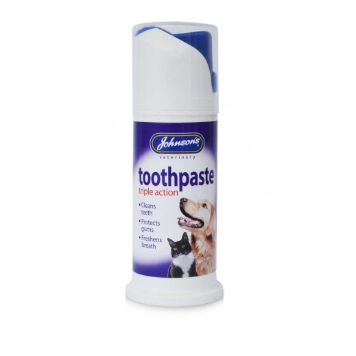 Johnsons Triple Action Toothpaste for Dogs & Cats 50 g