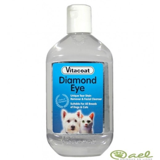 Vitacoat Diamond Eyes Tear Stain Remover & Facial Cleanser For Cats & Dogs 125 ml