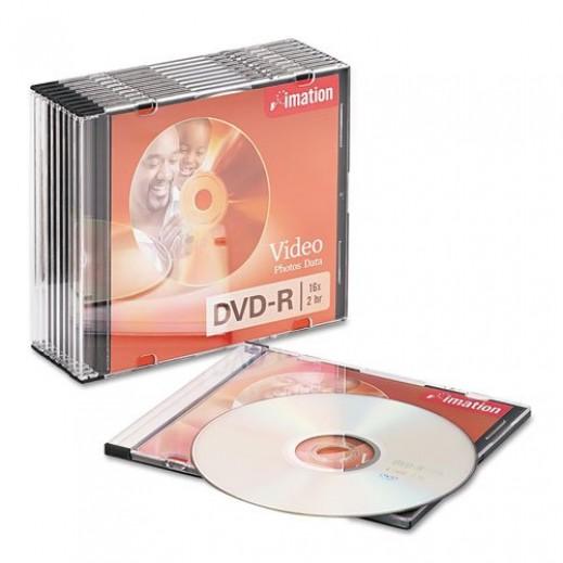 Imation DVD-R 4,7GB 16X Slim Case (Pack of 10)
