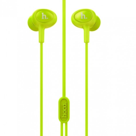Hoco Wired Earphones with Microphone - Light Green