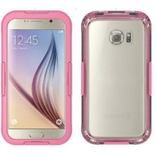 Waterproof Heavy Duty Swimming Dive Case for Galaxy S6 - Pink