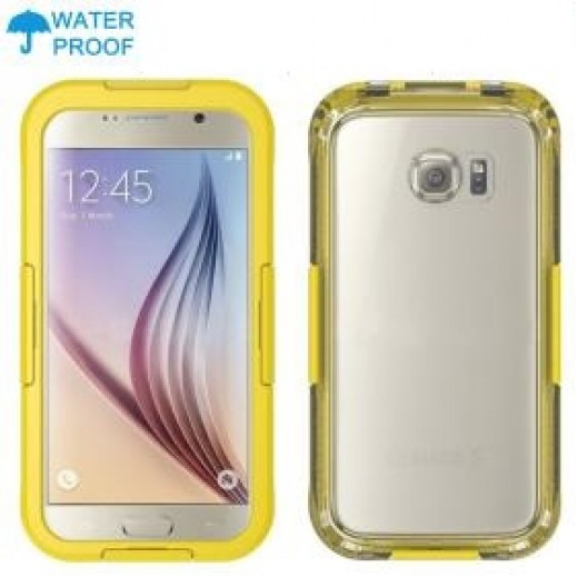 Waterproof Heavy Duty Swimming Dive Case for Galaxy S6 - Yellow