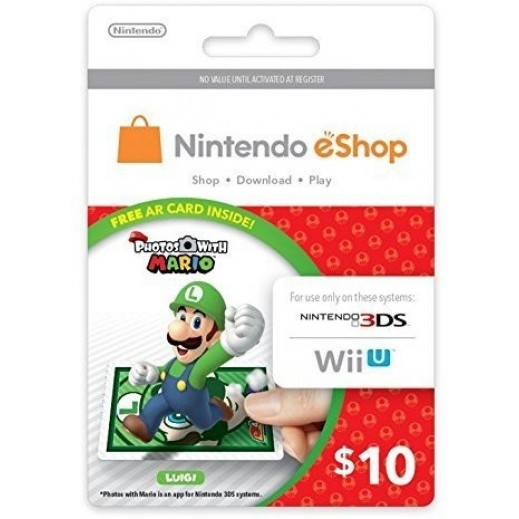 $10 Nintendo eShop Card - Item Delivered By E-mail