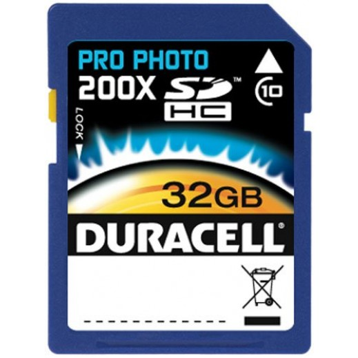 Duracell 32GB SDHC Memory Card Class 10
