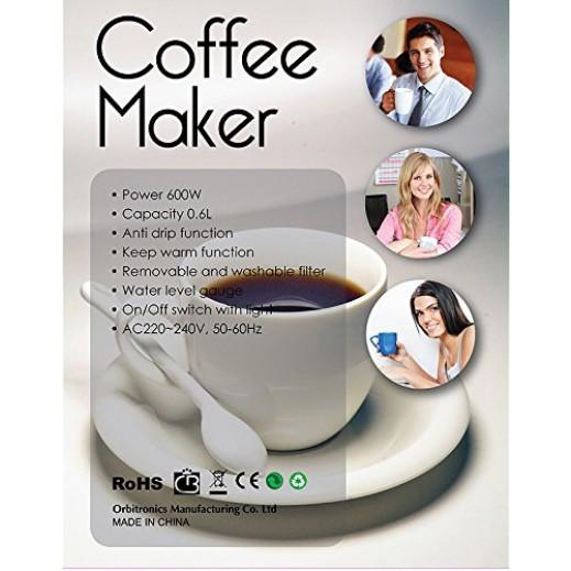 How To Use Orbit Coffee Maker : Orbit Coffee Maker 0.6L 600W Model CM-3021 Black ????? Taw9eel.com
