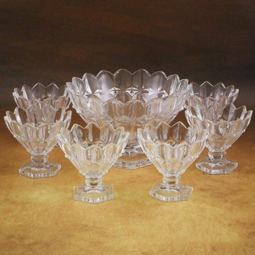 Glassware Fruit Bowl Set - 7 Pieces