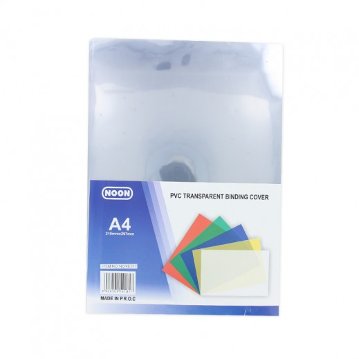 Noon PVC Transparent A4 Binding Cover 100 pieces