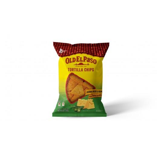 Old El Paso Cheddar Cheese Jalapeno Tortilla Chips 100 g
