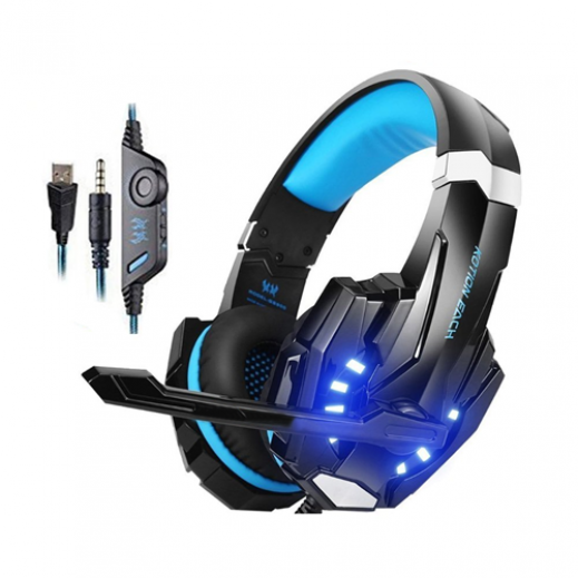 KOTION EACH G9000 3.5mm Stereo Gaming Headphone for PS4 & PC - Black & Blue