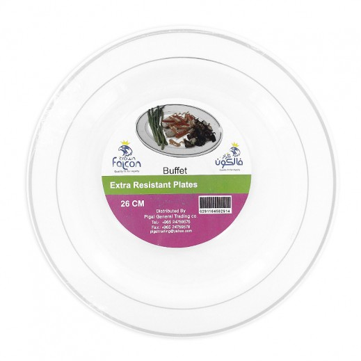 Falcon Buffet 26 cm White Plates 10 pieces