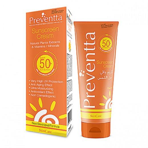 Preventta Sunscreen Cream SPF50+ 75 ml